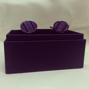 Purple Fish Bone Hand- Made Novelty Cuff Link $45